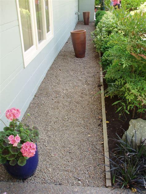 gravel  foundation yard gravel landscaping side
