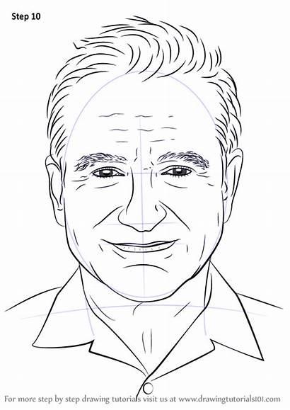 Draw Step Robin Williams Drawing Celebrities Tutorials