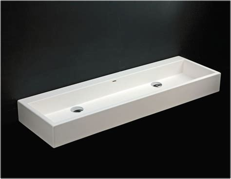 Long Rectangular Bathroom Sink Get Minimalist Impression