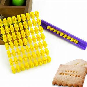 alphabet letters numbers symbols embossing biscuit With letter embossing tool