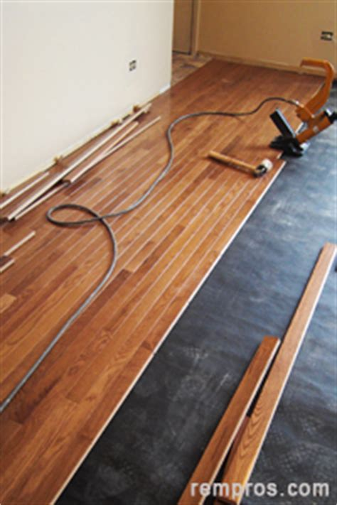 How to install prefinished solid hardwood flooring ? nail down