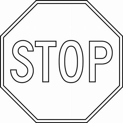Stop Outline Clipart Sign Printable Etc Signs