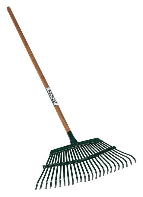 seymour midwest leaf rake steel   handle straight