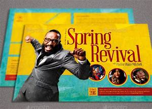 free church revival flyer template - spring revival church flyer template inspiks market