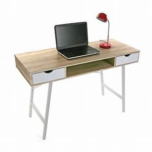 Table Enfant Scandinave : table de bureau scandinave bois et metal blanc versa ~ Teatrodelosmanantiales.com Idées de Décoration