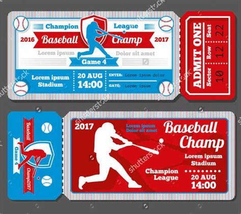 baseball ticket templates  psd ai vector eps
