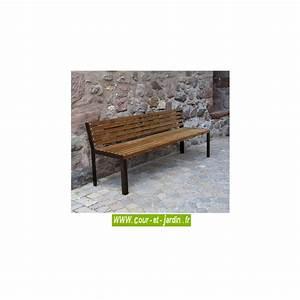 Banc De Jardin Bois : banc de jardin bois et m tal ext rieur design pas cher ~ Dode.kayakingforconservation.com Idées de Décoration