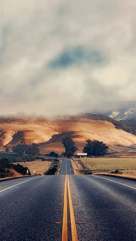 road, Clouds, Hill, Field Wallpapers HD / Desktop and ...