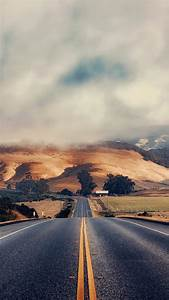 Road, Clouds, Hill, Field, Wallpapers, Hd, Desktop, And