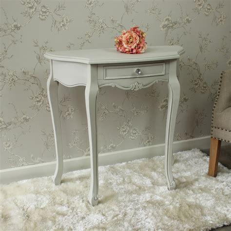 shabby chic half moon table grey wooden half moon ornate console table shabby french chic vintage hallway ebay