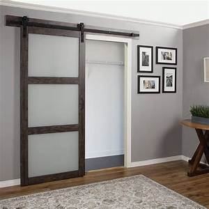 erias home designs continental frosted glass 1 panel With 5 panel glass barn door