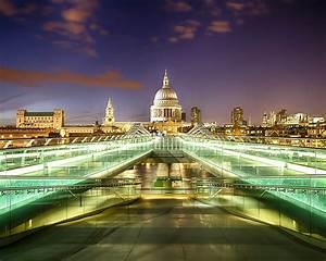 Millennium, Bridge, In, London, Uk, Steel, Bridge, For
