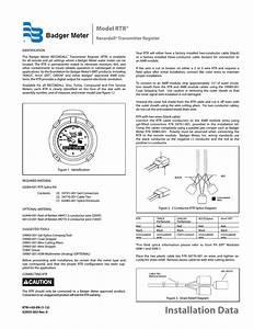 Badger Meter Water Conditioning User Manual