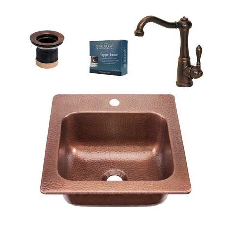 Home Bar Sinks by Sinkology Seurat All In One Drop In Copper 15 In Single
