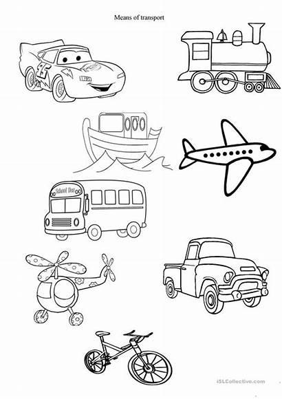 Transport Worksheets Esl English Worksheet Means Printable