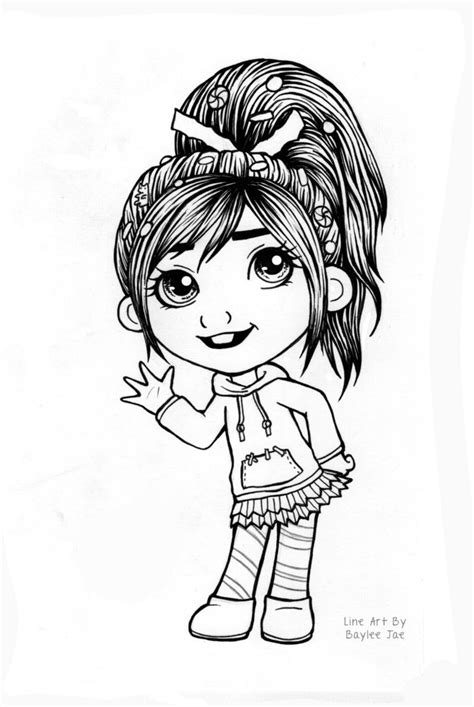 colouring page vanellope  baylee jae