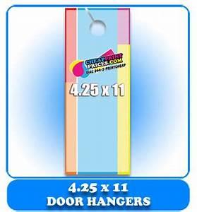 door hanger 425x11 100lb book cheapprintpricescom With 4 25 x 11 door hanger template
