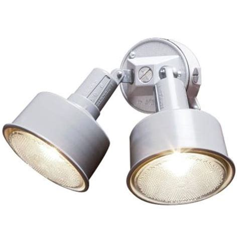 home depot outdoor lighting kits 2 l outdoor white flood light kit