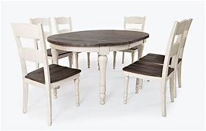 Madison, County, White, Round, Leaf, Table, With, Four, Chairs