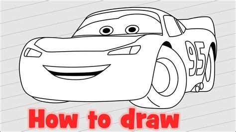 How To Draw Disney Cars Characters Lightning Mcqueen