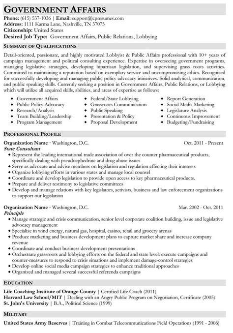 government affairs resume sample job resume job resume