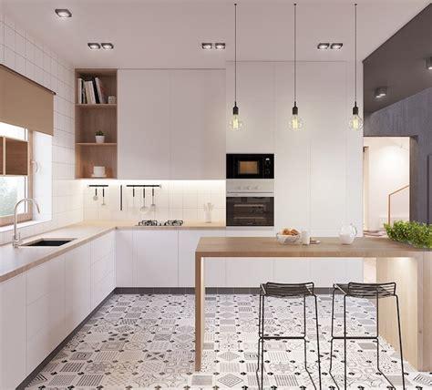 modele cuisine avec ilot central table 1001 astuces et idées pour aménager une cuisine en l