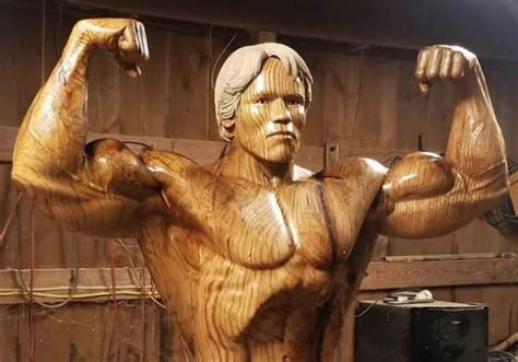 Artist Carves Incredible Life-size Sculpture Of Arnold