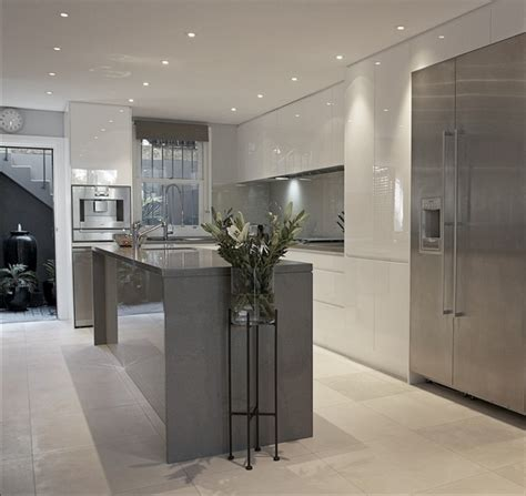 grey  white kitchen design ideas trendy kitchen interiors