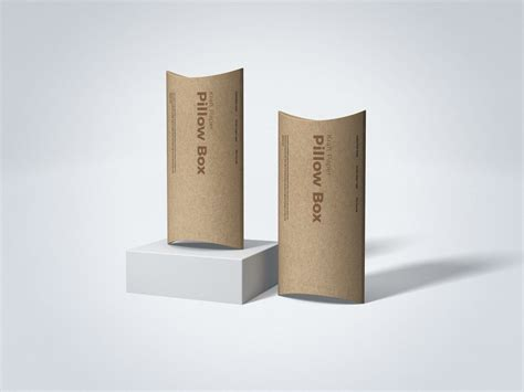 A great way for any creative person to show off their work. Kraft Paper Pillow Box Mockup - Free Mockups