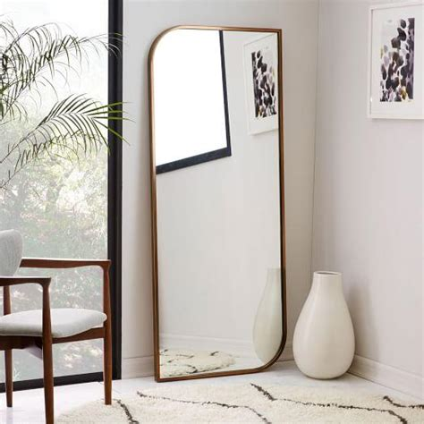 floor mirror metal frame rose gold metal framed floor mirror