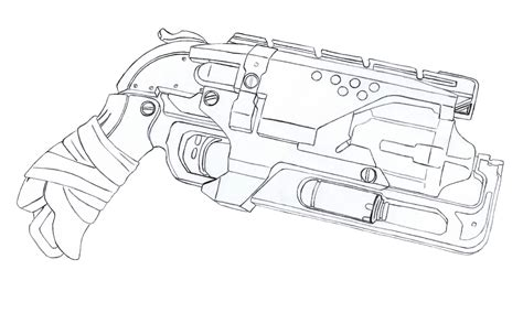 Nerf Gun Drawing At Getdrawingscom Free For Personal