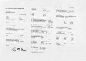 Certificat De Conformité Mercedes : certificat de conformit kia coc certificat de conformit europ en kia car 39 s certif ~ Gottalentnigeria.com Avis de Voitures