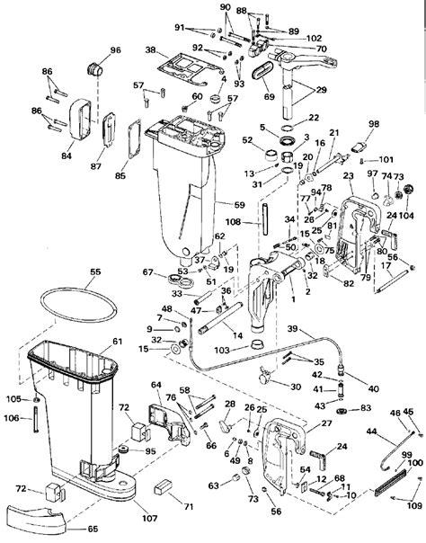 Evinrude 48 Spl Diagram by 48 Hp Johnson Outboard Parts Diagram Downloaddescargar