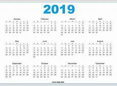 Calendar 2019 Printable vitafitguide