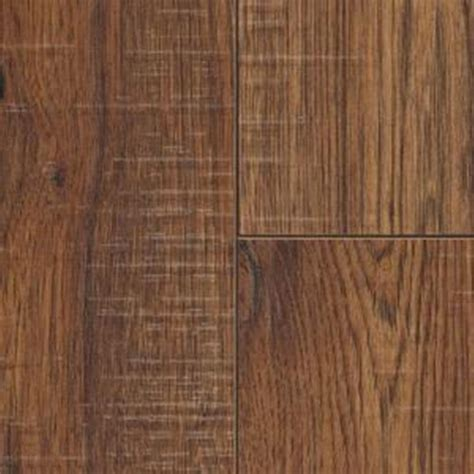 home depot hickory home decorators collection distressed brown hickory laminate flooring 5 in x 7 in take home