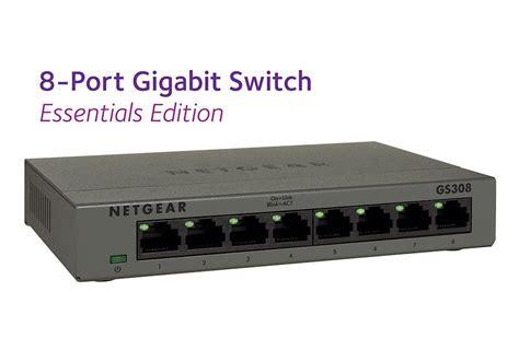netgear 8 port gigabit desktop switch in metal