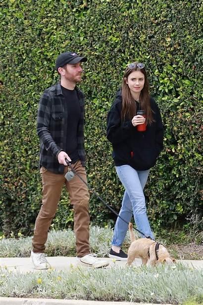 Collins Lily Boyfriend Beverly Hills Walk California