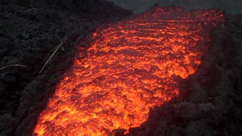 lava flow at pacaya volcano youtube