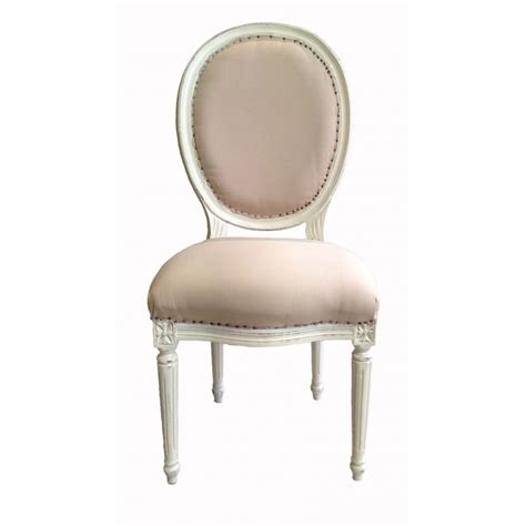 chaises de style chaise de style louis xvi tissu couleur beige et bois