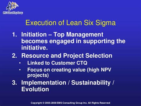 lean  sigma implementation