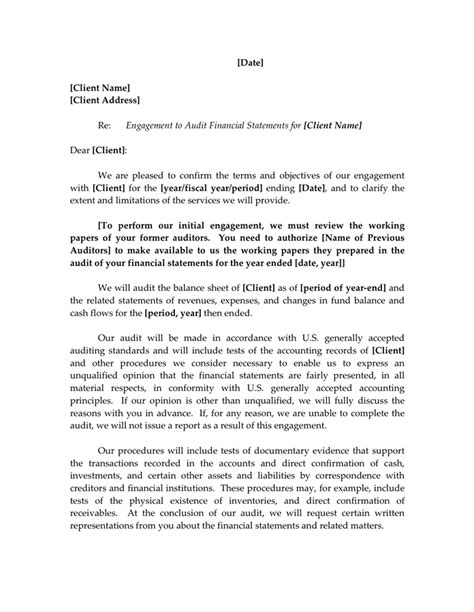 Cpa Engagement Letter Template by Accounting Firm Engagement Letter Sle In Word And Pdf