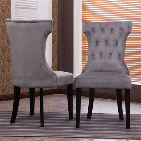 set   accent dining chair fabric tufted modern living
