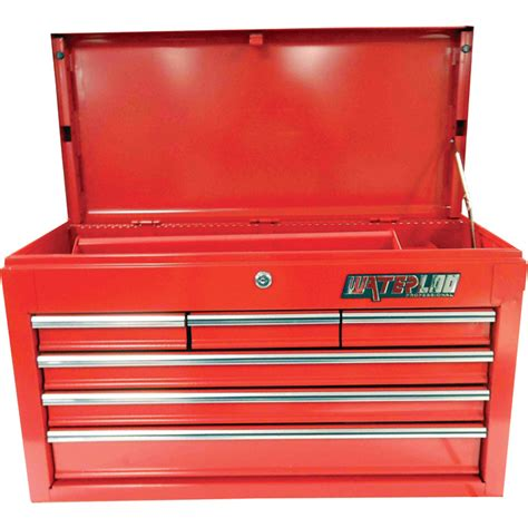 waterloo 6 drawer tool cabinet product waterloo 6 drawer top toolbox 26in w x 12in d x