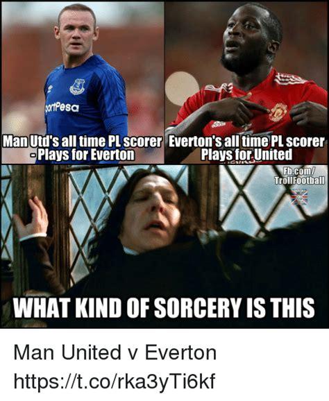 Everton Memes - man utd s all time pl scorer everton s all time pl scorer plays for everton plays for united