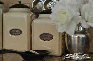 beautiful kitchen canisters how to decorate above kitchen cabinets tidbits twine