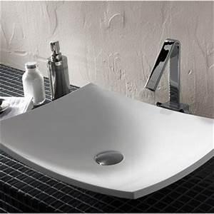 lavabo vasque et plan vasque pour salle de bains meuble With salle de bain design avec vasque à poser rectangulaire 70 cm