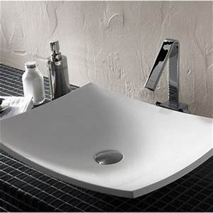 vasque meuble de salle de bains leroy merlin With salle de bain design avec evier pierre à poser