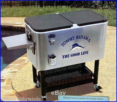 new bahama 100 quart stainless patio cooler