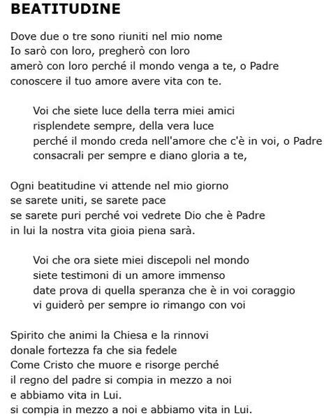 canzoni della chiesa testi eleno testi canzoni 171 parrocchia di san lorenzo da brindisi