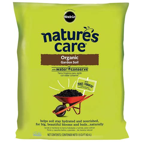 miracle gro nature s care 1 5 cu ft organic garden soil